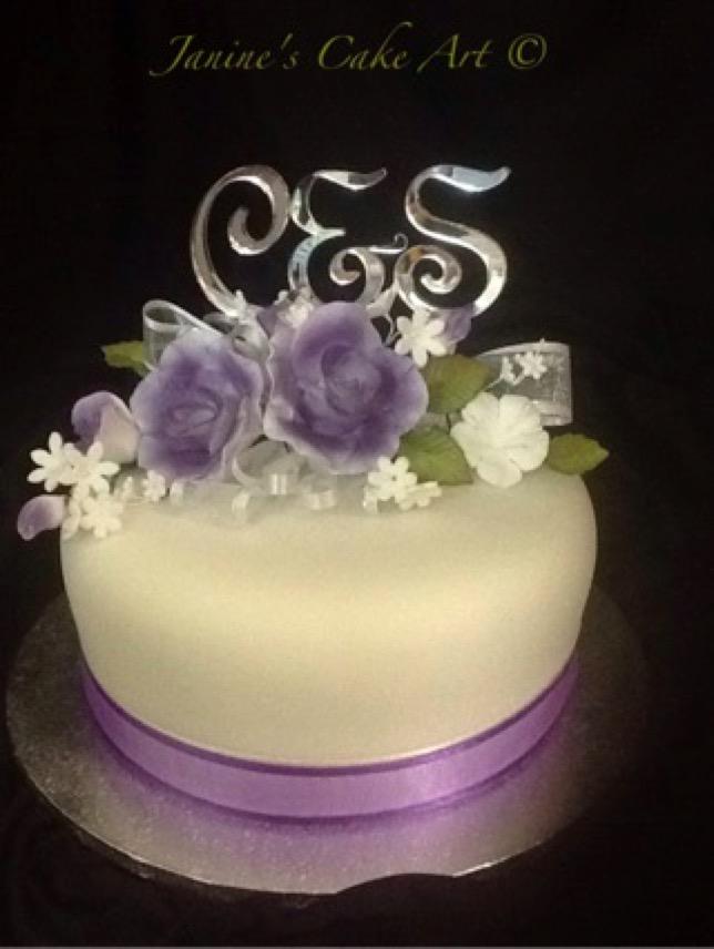 Janine S Cake Art : Single tier wedding cakes